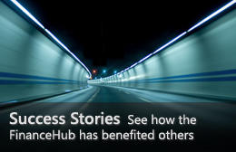 Success Stories—See how the FinanceHub has benefited others