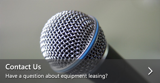 Contact Us—Have a question about equipment leasing?